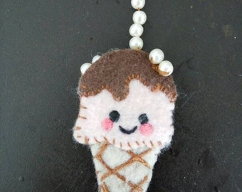 Lovely handmade felt icecream