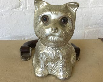 Vintage metal money box Terrier Dog Vintage decor Collectibles