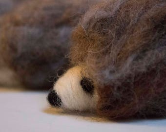 LARGE Hedgehog   Felt   Felted   Shetland Wool   Erinaceinae   Garden Creatures