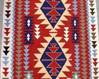 Anatolian-Turkish Rug--flat woven vintage rug
