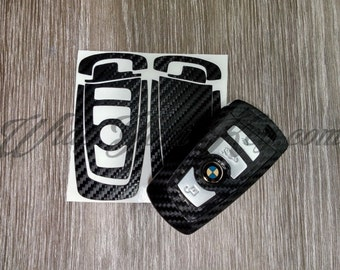 Black carbon fiber BMW key sticker decal overlay series f21 f20 f22 f23 f30 f31 f34 f35 f80 m3 f32 f33 f36 f10 f11 f18 f13 f01 f02 f03 f04