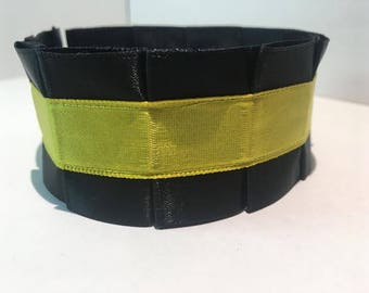 Pleated Satin Collar- Daffodil Yellow