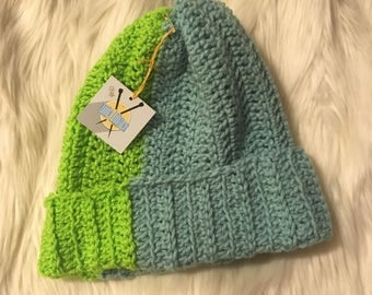 Beanie - Green on Green