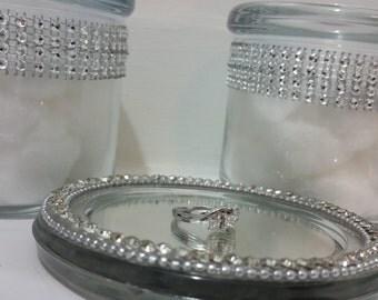 Elegant glass jar