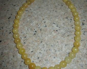 Jade Necklace - (Yellow)