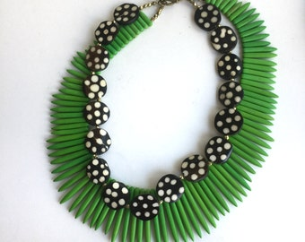 Tribal African Bead Necklace