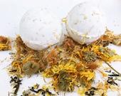 Vegan Bath Bomb // Mother Earth Blend // Soothing Sore Muscle Relief Bath Bombs // Arnica, Calendula, Green Tea, Jasmine, Oatmeal and Herbs