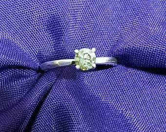 Moissanite Engagement/Promise ring Sterling Silver size 7