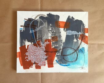 original abstract painting on linen -game-