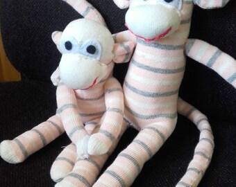 Sock Monkey  stuffed soft toy