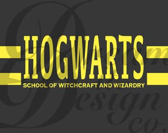 Harry Potter School of Witchcraft and Wizardry Design for Silhouette Studio, Cut Files, Clip Art, INCLUDES SILHOUETTE FILE
