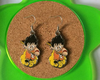 Handmade goku nimbus dangle earrings