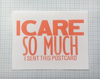 I Care So Much Postcards - Set of 5