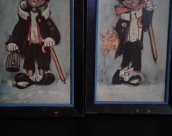 Ozz Franca - Hobo Clown Prints - Set of Two