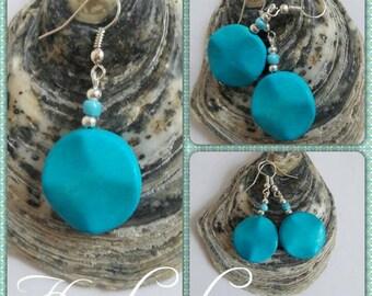 Pretty Howlite Gemstone drop earrings