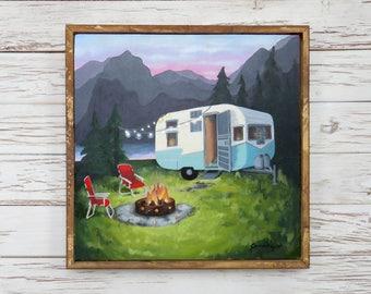 Happy Camper Painting Print