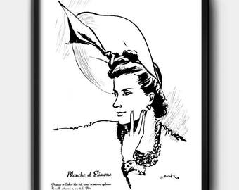 Blanche et Simone · 1930s · Instant Download · Fashion · Illustration · Vintage · Printable #141