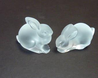 Lalique Easter Rabbits