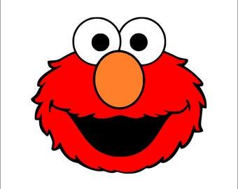 Elmo Svg, Elmo, Sesame Street Svg, Elmo Svg Files, Elmo Muppets Svg, Elmo Silhouette Files, Elmo Cricut Files