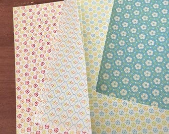 Cardstock / Glitter Flowered 8 x 8 Paper / Card Stock / Scrapbook Paper / Scrapbooking / Card Making Paper / Paper Stock