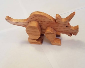 Oak Triceratops Toy