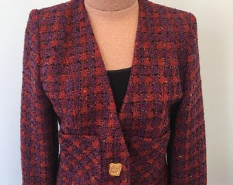 Givenchy Vintage Haute Couture Multicolored Jacket