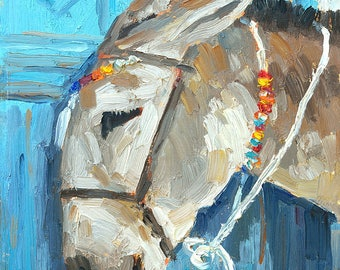 Darla ... Donkey print on Birchwood panel, Farmhouse decor, Giclee, Art, Great gift