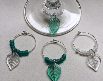 Leaf Wine Charms
