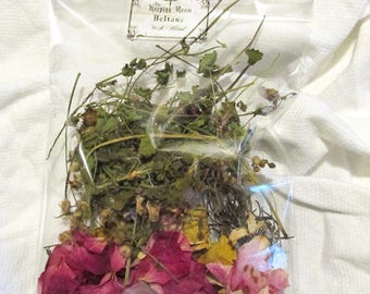 BELTANE Sabbat Ritual Herbs Flowers Blend Organic Wild Grown Witch Wicca Metaphysical Magic Magick Rain Washed No Pesticides