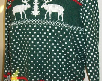 Vintage retro styled ski sweater