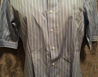 Women's Polo Ralph Lauren Short Sleeve Striped Button Up