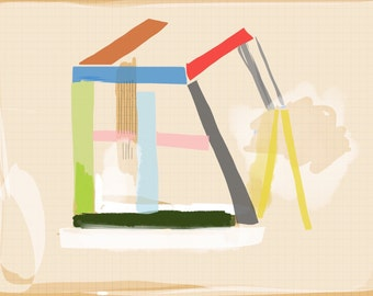 Art Book contemporary geometric digital prints #15