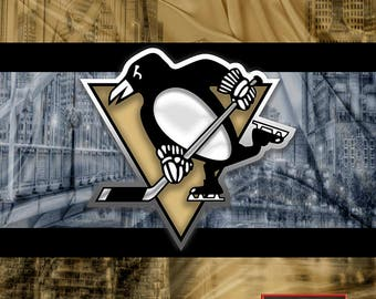 Pittsburgh Penguins Poster, Pittsburgh Penguins Hockey Gift, Pens Art, Penguins Man Cave Gift