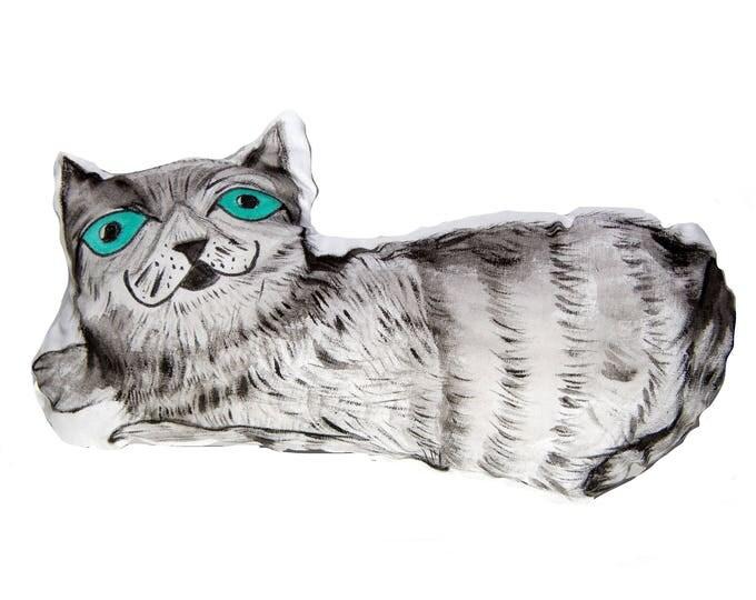 Cat Pillow,Cat,Pillow,Cute,Cats,Pillow Pet,3d,Gift,Cushion,Kitten,Art,Mom,Handmade,Home decor,etsy pillow,decorative,Hand Painted,Smile,2017