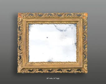 Vintage gold gesso frame with mirror
