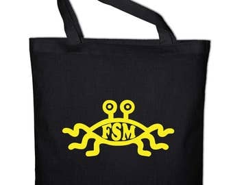 Flying Spaghetti Monster FSM tote bag, canvas bag