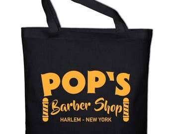 Pop's mullet shop Harlem New York fabric bag cotton bag