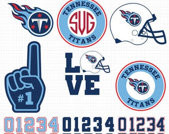 Tennessee Titans- Cuttable Design Files (SVG, EPS, JPG) For Silhouette Studio, Cricut Design Space, Cutting Machines,Instant Download