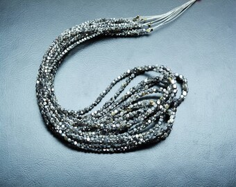 AAA quality Natural round Double Cut DIAMOND side drilled(UNIQUE shape) \ 16 inch strand