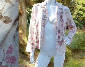 little flowery spring jacket vintage 90s