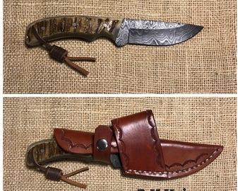 "6-3/4"" Damascus Knife"