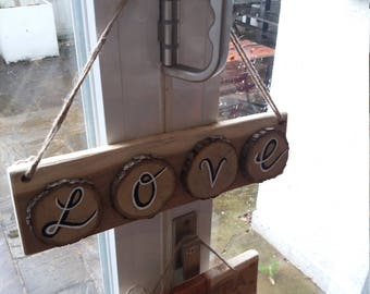 Wood piece  LOVE sign