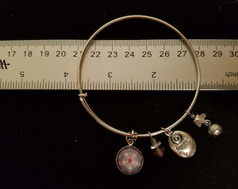 Kaleidoscope Image Charm Bangle - Design #1