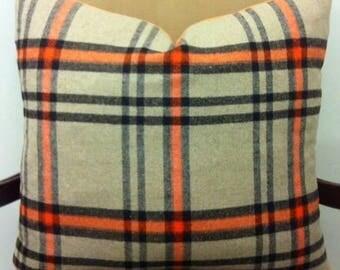Orange Wool Pillow Cover, Orange Pillow, Wool Pillow, Boho Pillows, Decorative Pillow, Wool Cushion, Orange Wool Couch Pillow Case Covers