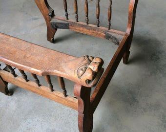 Antique chair parts
