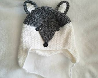 crochet fox beanie made with love