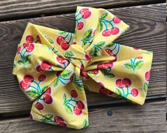 Yellow Cherries Headwrap
