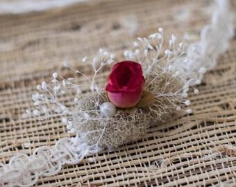 Rose Newborn Tieback * Photography Prop * Springtime Prop