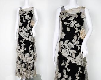 1930s Callot Soeurs Haute Couture Lace Dress