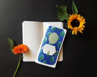 """""""Oriental flowers"""" blue notebook"""